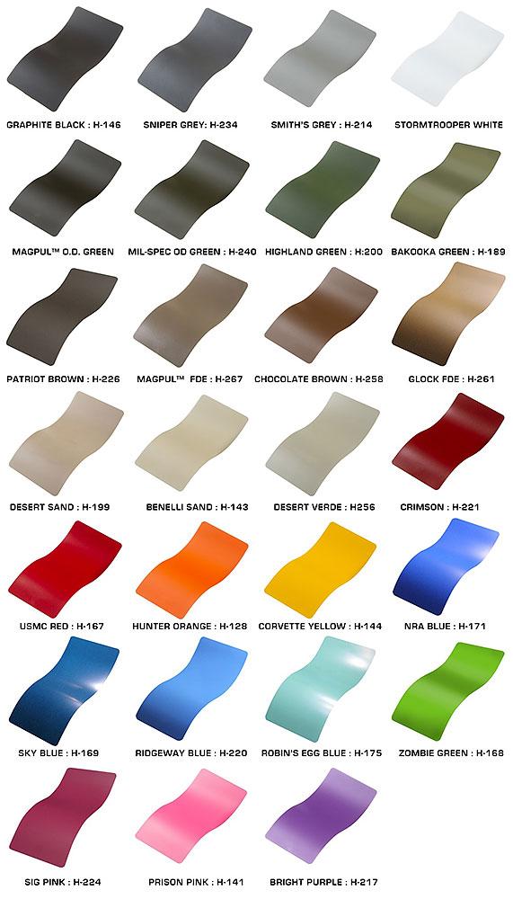 Cerakote Farben